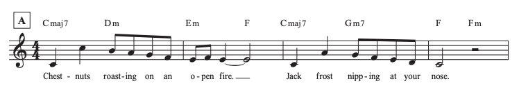 The Christmas Song Line 1